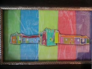43 x 37cm acryl op steenpapier